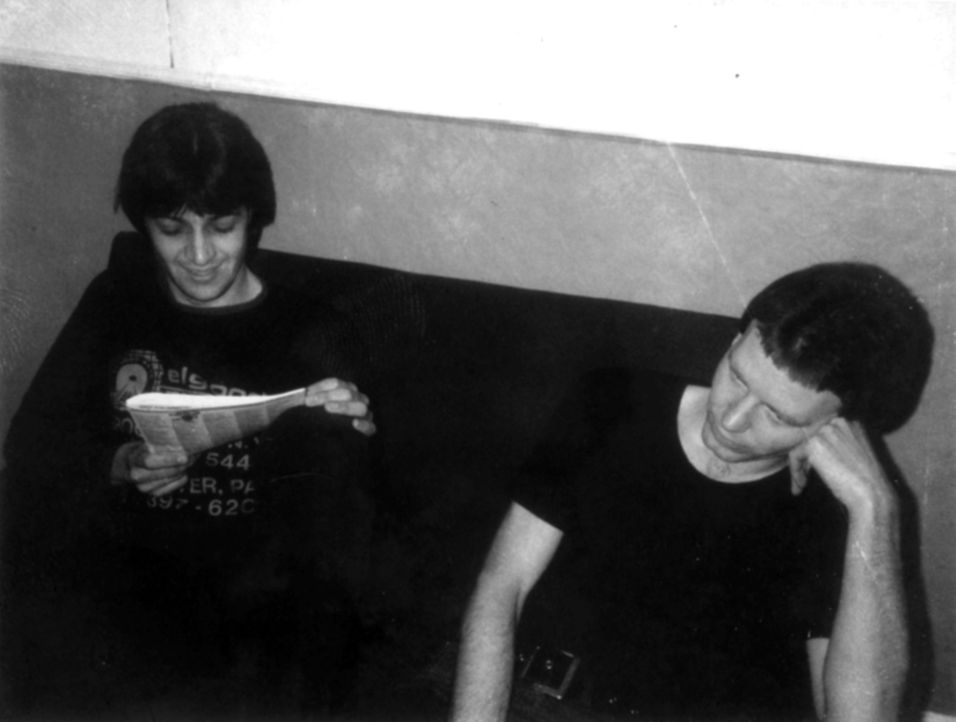 Phil Shoenfelt and a friend, Nick, in Manchester 1978